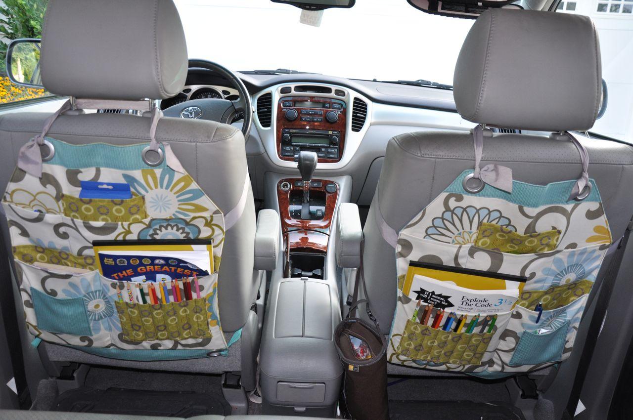 Органайзер на спинку сиденья автомобиля своими руками